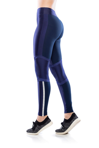 Legging Run Geo - Navy Blue