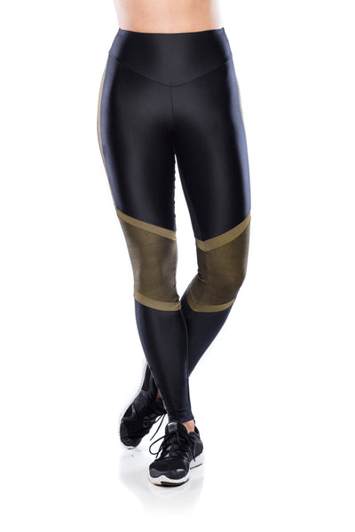 Legging Run Geo- Black