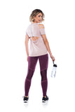 Legging Run Geo- Dark Purple