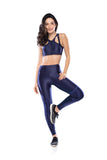 Run Geo Sport Bra - Navy Blue