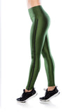 Legging Ziper Athleisure - Military Green
