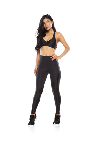 Asymmetric Side Legging - Black