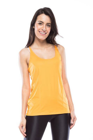 Lara gym Tank Top -  Dark Yellow