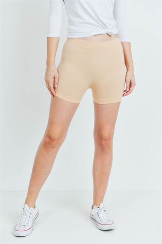 Cream Spandex Shorts