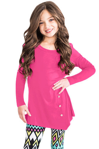 Kids Rose Button Tunic