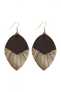Brown/Gold Leaf Earrings