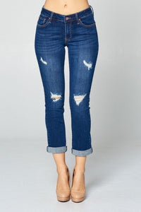 Special A Cuffed Distressed Denim