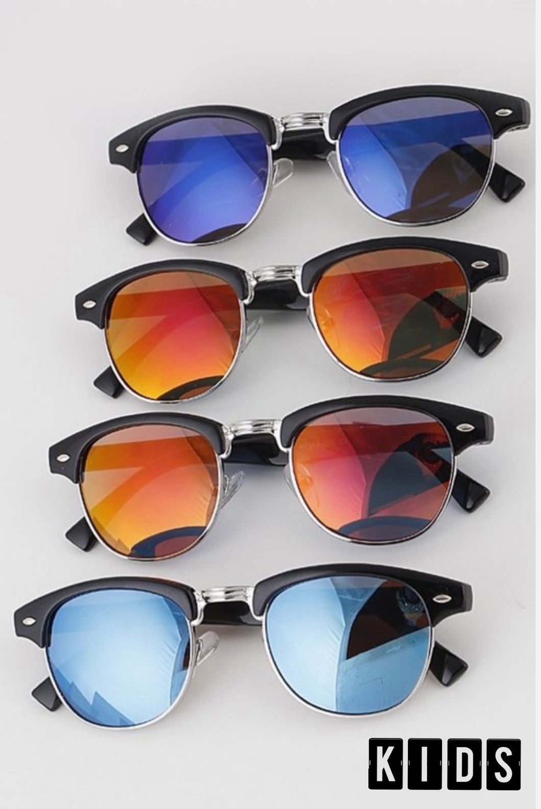 Kid's Retro Mirrored Shades