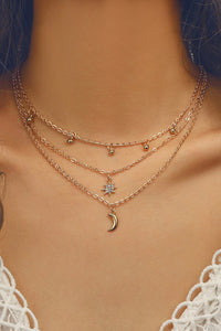 Moon Charm Layered Necklace