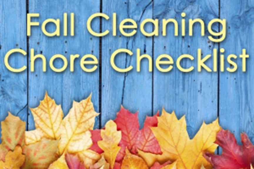 Fall Cleaning Chore Checklist