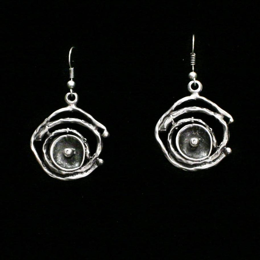 Pewter Earrings - SKU# KU114