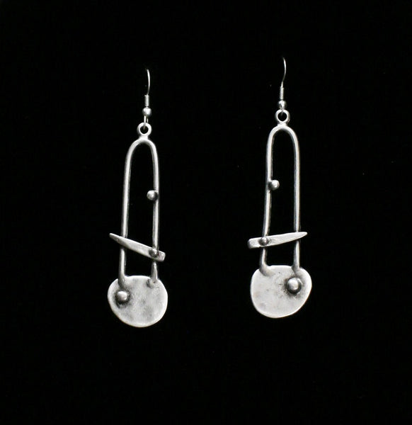 Pewter Earrings - SKU# KU118