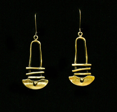 Bronze Earrings - SKU# KU141 BRONZE