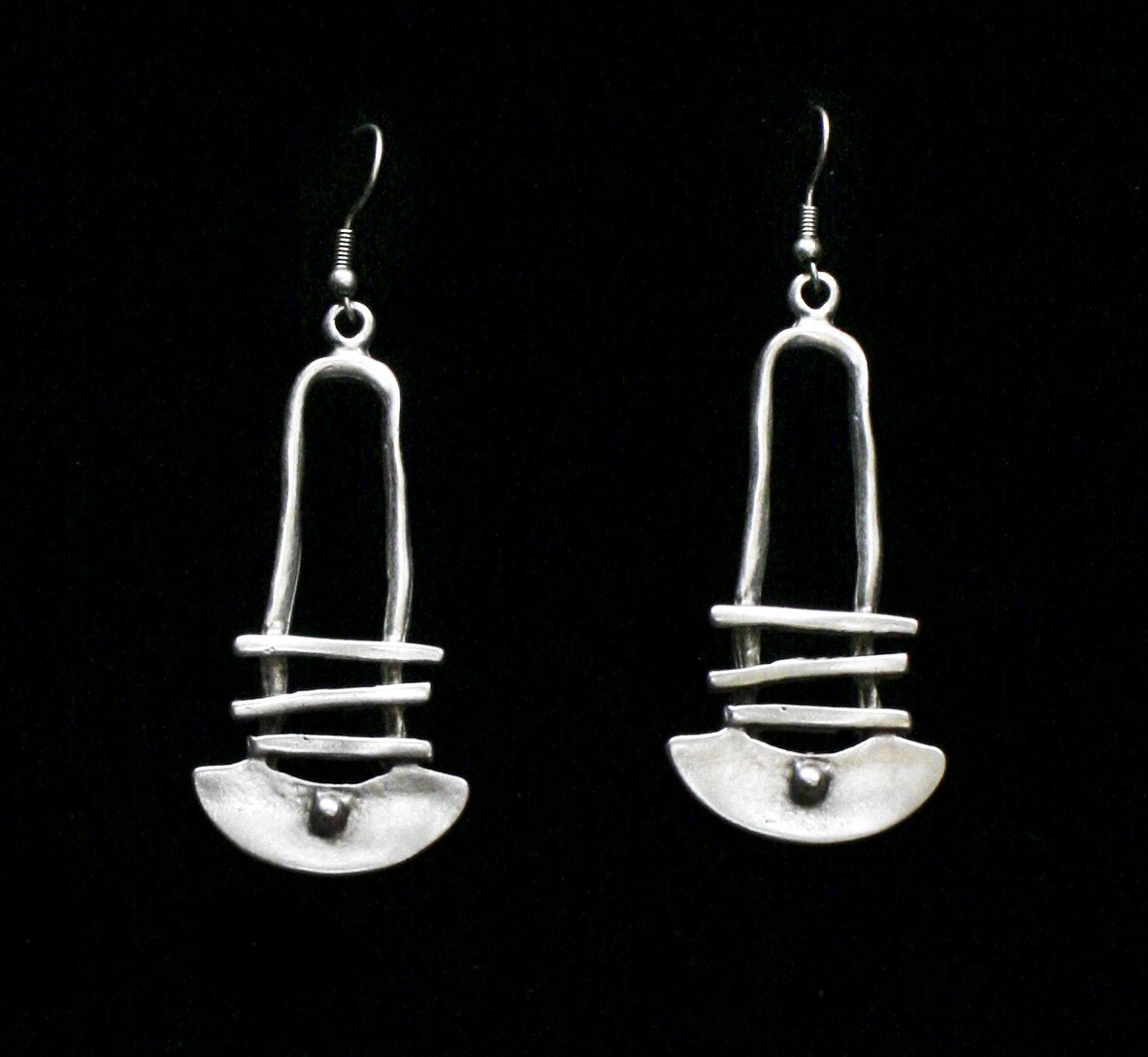 Pewter Earrings - SKU# KU141