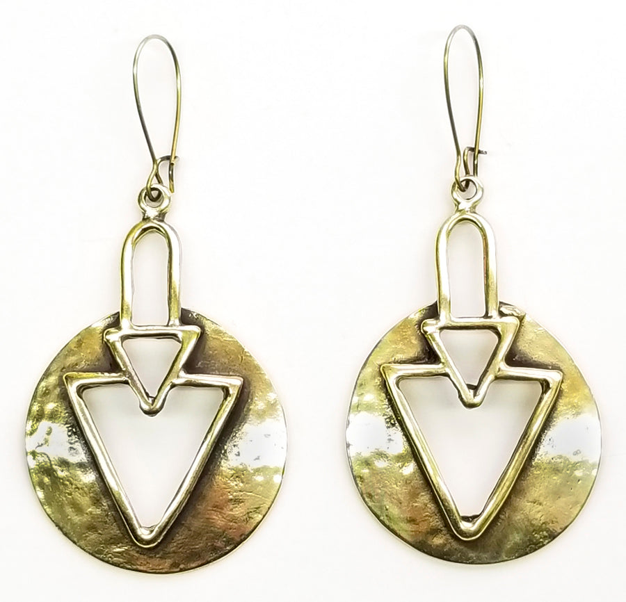 Bronze Earrings - SKU# KU155 BRONZE