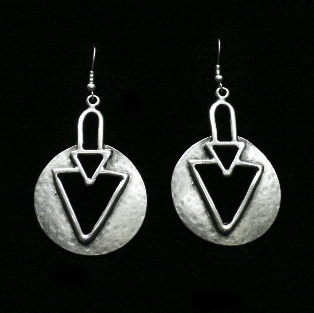 Pewter Earrings - SKU# KU155
