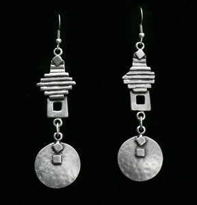 Pewter Earrings - SKU# KU45