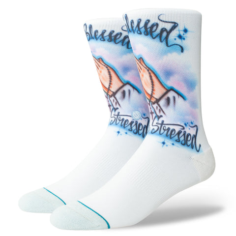 STANCE SOCK AIRBRUSH BLESSED