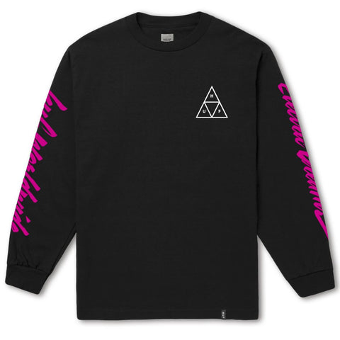 HUF NIGHT CALL TRIPLE TRIANGLE L/S TEE