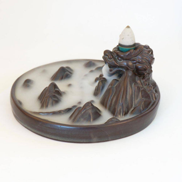 Incense & Incense Burners - Majestic Mountain Back Dragon Incense Burner