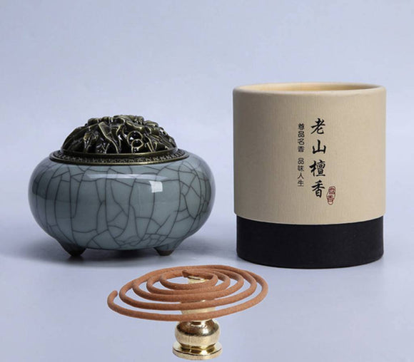 Incense & Incense Burners - Tea Beauty Sandalwood Stick Incense And Censer