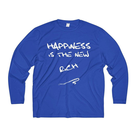 Long-sleeve - Happiness Is The New Rich  (front) / Zen Mushroom Logo (back) Surf Shirt