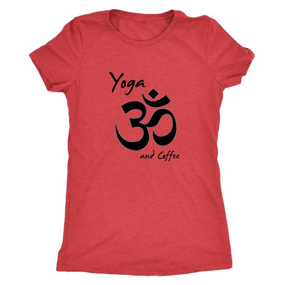 T-shirt - Yoga And Coffee Ladies T-Shirt (black Logo)