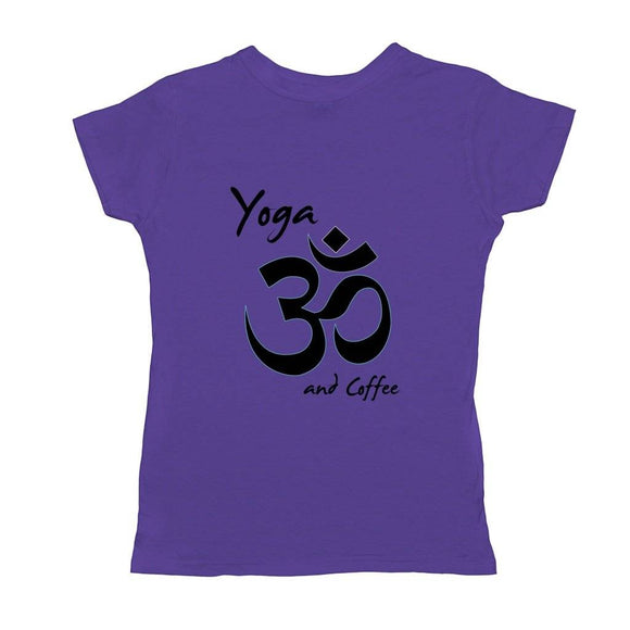 Yoga And Coffee Basic Womens T-Shirt
