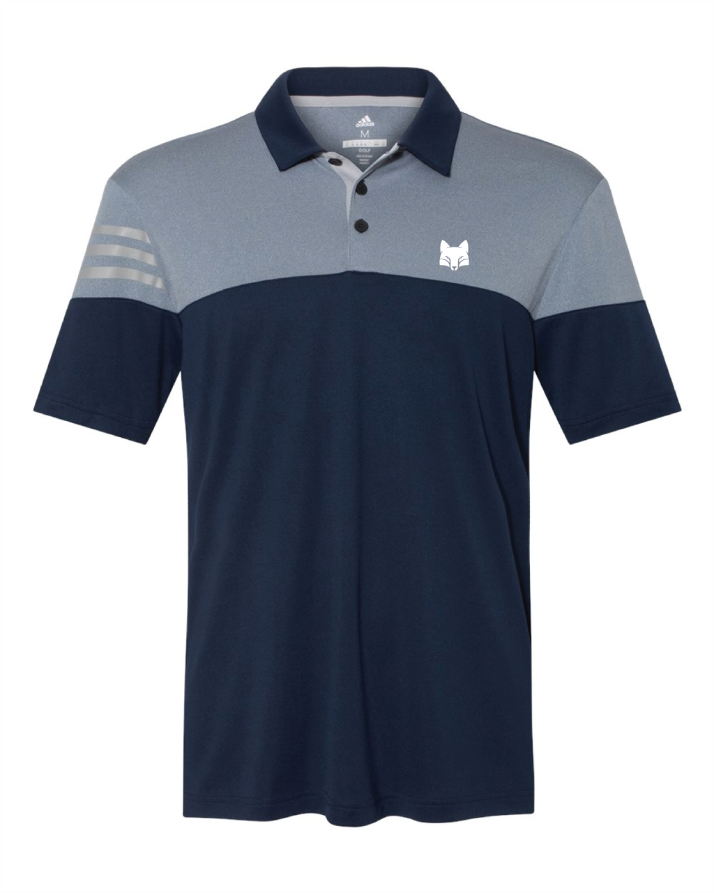 Adidas Heather Three Strip Polo