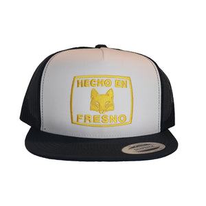 Hecho En Fresno Trucker Hat White/Gold