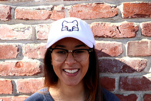 White Fox Outline Hat