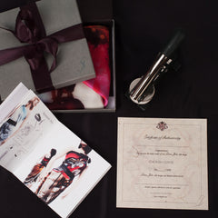 Box, Style, guide, silk ribbon, certificate, styling clips
