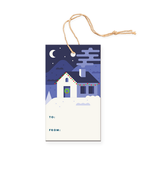 Christmas Night Gift Tag