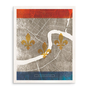 Art Prints - NEW ORLEANS FLAG