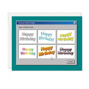 Greeting Cards - Birthday Wordart