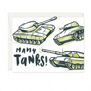 Greeting Cards - MANY TANKS