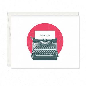 Greeting Cards - Thank You Typewriter
