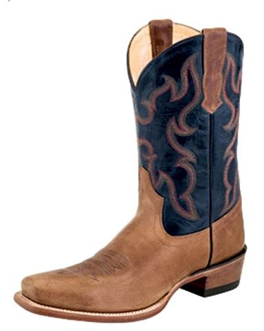 Old West Mens Tan Square Toe