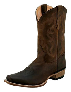 Old West Mens Oily Distressed Square Toe