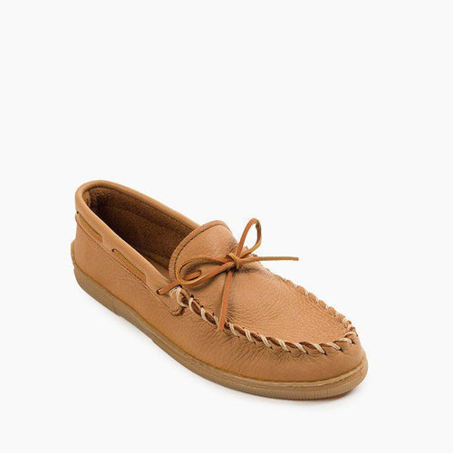 Minnetonka Mens Moosehide Classic Natural