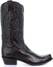 Corral Mens Black Cherry Square Toe