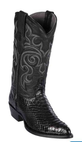 Los Altos Mens Black Python J Toe