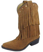 Smoky Mountain Childrens Brown Fringe Boot