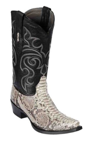 Los Altos Mens Natural Python with Snip Toe
