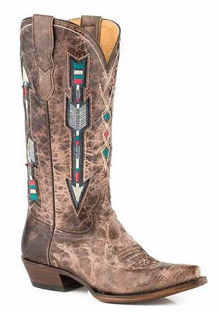 Roper Ladies Brown Arrow