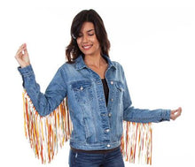 Scully Ladies Fringe Denim Jacket