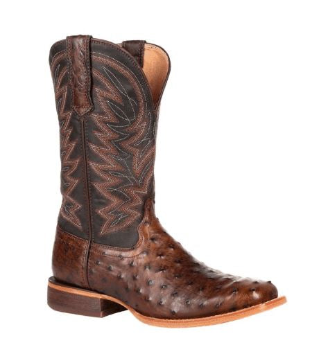 Durango Mens Antique Saddle Ostrich Sq Toe
