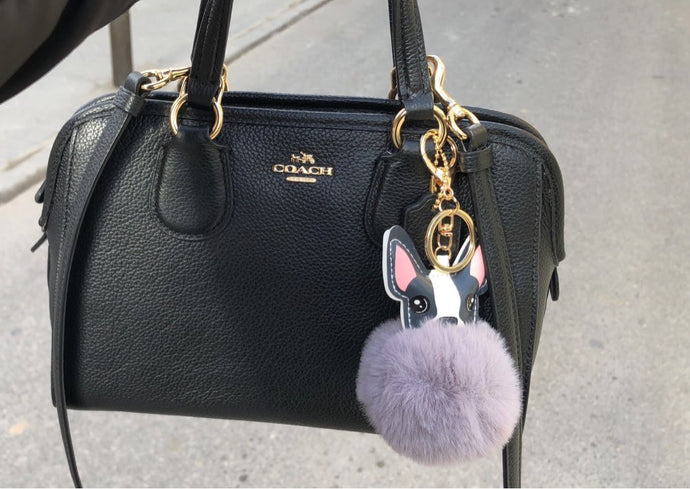Frenchie Pompom for Hand Bags