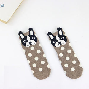 Cartoon Frenchie Socks