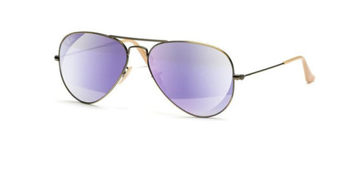 Rb3025 Aviator Large Metal 167/4k Demiglos Brusched Bronze Lillac Mirror M Vli6xr6